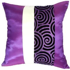"Artiwa Violet Purple & Cream Spiral 16""x16"" Silk Throw Couch Decorative Accent Pillow Cover Gift Idea, http://www.amazon.com/dp/B007B89P6O/ref=cm_sw_r_pi_awdm_4P1Htb0H9MMY2"
