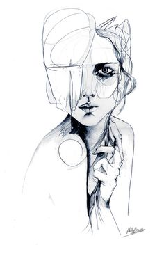 Drawing sketches, fashion illustration face, fashion illustrations, art et Abstract Pencil Drawings, Sketchbook Drawings, Drawing Sketches, Art Drawings, Sketching, Abstract Shapes, Drawing Style, Sketch Art, Drawing Ideas