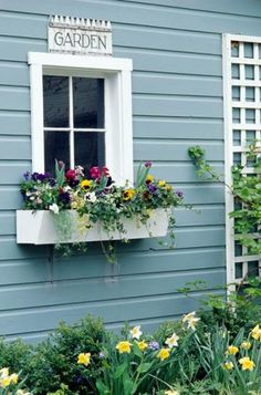 13 wonderful windowboxes   Living the Country Life Garden shed windowbox