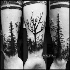 dark woods tattoo wristband