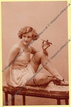 vintage postcard shop ephemera collectables battlesbridge essex - 1930s Lingerie postcards