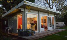 Casas de Madera Heidi de 43 m2 c/baño y 2 hab.