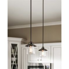 allen + roth Bristow Mini Pendant Light with Clear Shade
