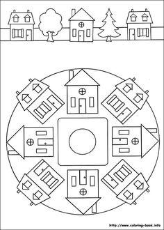 91 Mandalas printable coloring pages for kids. Find on coloring-book thousands of coloring pages. Sewing Appliques, Applique Patterns, Applique Quilts, Applique Designs, Quilt Patterns, Mandala Coloring, Colouring Pages, Coloring Pages For Kids, Coloring Books