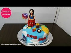 birthday cake for mom mother mum ma mummy women design ideas decorating tutorial video at home 50th Birthday Cake For Mom, Happy Birthday Cakes For Women, Simple Birthday Cake Designs, Happy Birthday Mummy, Cartoon Birthday Cake, Happpy Birthday, Simple Cake Designs, Wife Birthday, Birthday Board