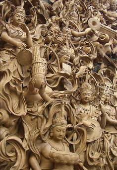 Japan' Stream of Art Buddha Sculpture, Sculpture Art, Art Buddha, Dragons, Statues, Les Religions, Art Japonais, Thai Art, Temples