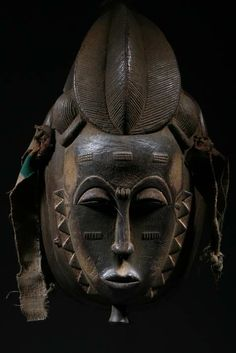 Africa | Mask from the Baoulé people of the Ivory Coast | ca. 30 years old