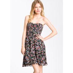 Fynn & Rose Strapless Floral Dress