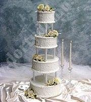 svatební dort bílý s řeckými sloupy