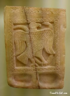 Snake and Eagle Relief Slab. Treasures of Yemen. Istanbul Archaeology Museum, Turkey