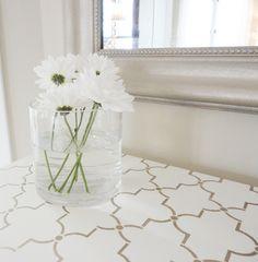 DIY stenciled table top