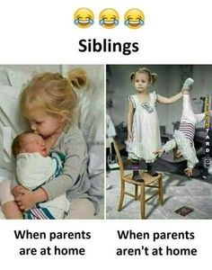 Baby Quotes Funny Humor Brother Ideas For 2019 Funny Sibling Pictures, Siblings Funny, Sibling Memes, Funny Babies, Funny Kids, Sibling Quotes, Funny Pictures, Baby Pictures, Funny School Memes
