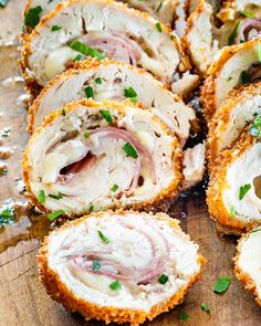 Chicken Ham, Yum Yum Chicken, Chicken Recipes, Recipe Chicken, Turkey Recipes, Cordon Bleu Chef, Cordon Bleu Chicken, Fried Chicken Cordon Bleu Recipe, Chicken Cordon Blue Easy
