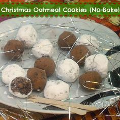 Christmas Oatmeal Cookies {No-Bake} ~ perfect for the holidays