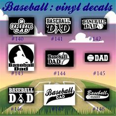 BASEBALL Vinyl Decals Vinyl Sticker Custom Baseball - Custom vinyl baseball decals
