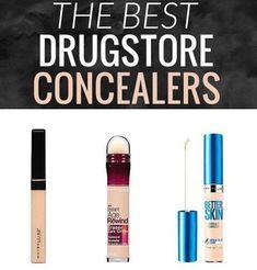 The best drugstore concealers! : : : : : : : : : : #concealer #maybelline #drugstoreconcealer #elf #nyx #revlon #lagirl #dupes #makeup #makeupsponge #makeupdupes #drugstoremakeup #drugstoredupes