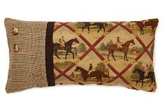 Love! Oblong Equestrian Pillow - French Laundry Home