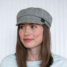 Newsboy Cap Womens Newsboy Hat Womens Hat Gray by BkmHattitude Travel Hat c4b390cb0d5a