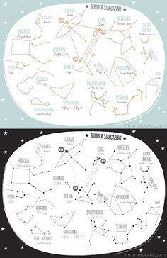 Printable constellation map this is a great site for kids and free printable summer constellation map northern hemisphere publicscrutiny Gallery