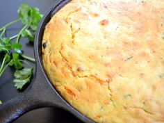This vegetable tamale pie is super hearty and delicious with a jalapeno cornbread topping.