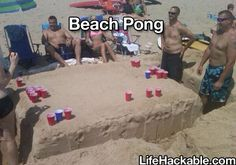 Beach Pong, this is so amazing. More Life Hacks Here