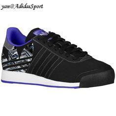 Adidas Hommes Originals Samoa Chaussures Occasionnelles Noir/Pourpre Souffle HOT SALE! HOT PRICE!