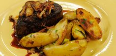 Filet Mignon with Mushroom Red Wine Sauce By Katie Lee