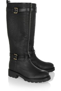 Tough Cookie by Tory Burch Mansur Gavriel Bag, Tory Burch, Fall Winter Shoes, Black Knees, Leather Buckle, Black Rings, Designer Shoes, Me Too Shoes, Knee Boots