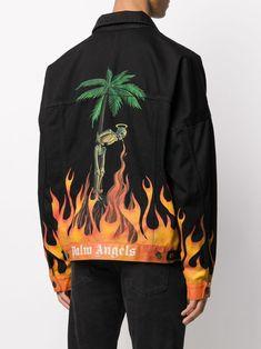 Custom Denim Jackets, Painted Denim Jacket, Denim Paint, Painted Clothes, Apparel Design, Custom Clothes, Aesthetic Clothes, Streetwear Fashion, Palm Angels