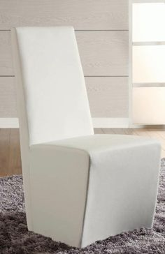 Chintaly Imports Cynthia Fully Upholstered White Modern Side Chair Set