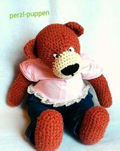 Gehäkeltes Teddybär/Crochet Teddy von Perzl-Puppen auf DaWanda.com