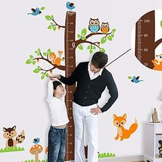 Createforlife ® Cartoon Tree Hoogte Grafiek Kids Kinderkamer Muurstickers Wall Art Decals 2016 – €15.67