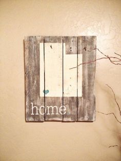 Utah is Home rustic, wooden sign made from reclaimed pallet wood on Etsy, $75.00