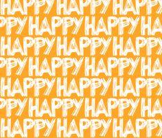Happy Orange fabric by smuk on Spoonflower - custom fabric