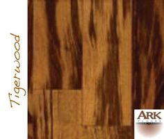 Tigerwood Prefinished Engineered hardwood floors by ARK Floors.  Finish Shown: CLEAR  www.shop4floors.com