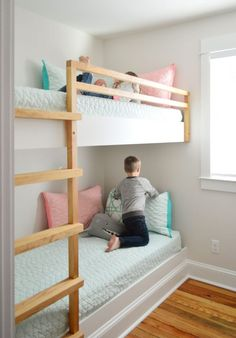 Young House Love | How We Made Built-In Bunk Beds At The Beach House | https://www.younghouselove.com
