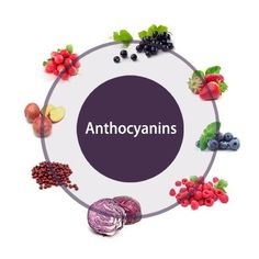 Red colour of wine: from a pigment in the skin of the grapes, called anthocyanin (also found in cherries, blueberries, plums)  -Different red wines have different levels of pigment, resulting in different hues of red  -More red, more acidic; more blue/magenta, less acidic