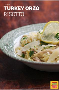 Have lots of leftover turkey? Creamy Turkey Orzo Risotto is one of our favorite dishes to make with Thanksgiving leftovers.