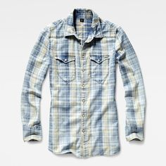 Channelling classic workwear, this perfectly aged denim shirt features a double shoulder yoke and flap chest pockets.