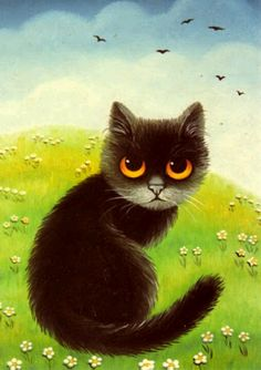 """""""Black Cat"""" par Anna Hollerer"""