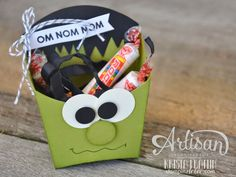 Stampin' Dolce: Trick or Treat Frankenstein using Stampin' Up! Fry box