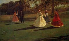 Jogadores de Críquete. 1865. Óleo sobre tela. Winslow Homer (1836-1910). Encontra-se na Galeria de Arte Albright-Knox, Buffalo, Nova York , USA.