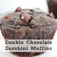 Double Chocolate Zucchini Muffins - forgot to add the cinnamon, still tasted great!