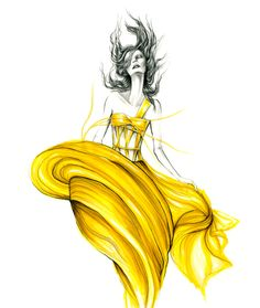 marker fashion illustration by Lara Wolf #marker #larawolf #fashionillustration #fashion #illustration