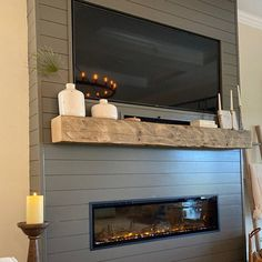 Fireplace Feature Wall, Fireplace Tv Wall, Build A Fireplace, Basement Fireplace, Fireplace Built Ins, Bedroom Fireplace, Faux Fireplace, Fireplace Remodel, Living Room With Fireplace