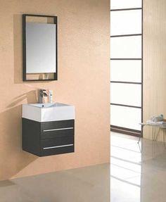 "22.5"" Wall-mount Bathroom Vanity Set in Espresso Finish (free shipping)"