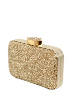 LULU GUINNESS - FIFI GLITTERED CLUTCH
