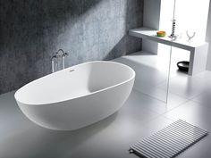 Oval Freestanding Cast Stone Egg Bath 1500mm