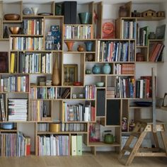 I want a wall of shelves like this! Books http://www.janetcampbell.ca/