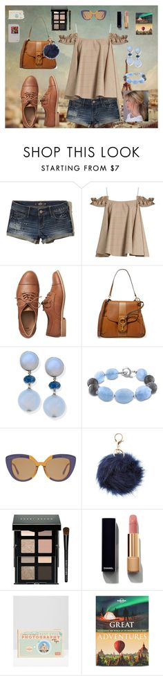 """Traveler"" by lynne-farrell ❤ liked on Polyvore featuring Hollister Co., Anna October, Gap, Chloé, Miadora, Marni, Charlotte Russe, Bobbi Brown Cosmetics, Chanel and Lonely Planet"